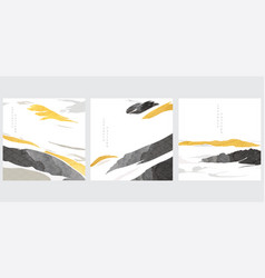 abstract landscape background with black brush vector image