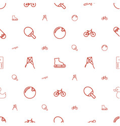 activity icons pattern seamless white background vector image
