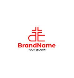Ae church logo design vector
