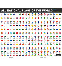 All official national flags of the world diamond vector