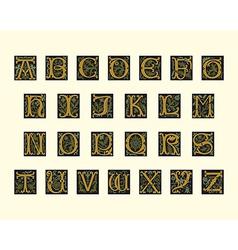 alphabet early 16th century vector image