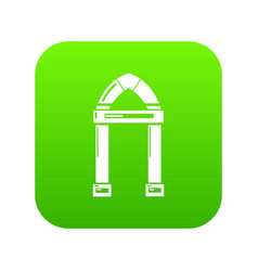 Archway decorative icon green vector