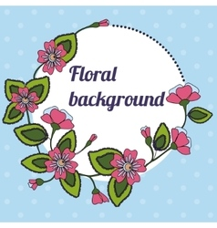 Background with round floral banner vector image