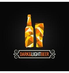 Beer bottle poly design background vector