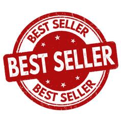 Best seller grunge rubber stamp vector
