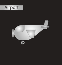 Black and white style icon plane with propeller vector