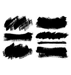 brush strokes paintbrushes set grunge vector image