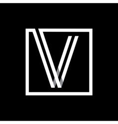 Capital letter V Monogram logo emblem vector