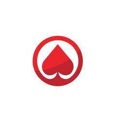 Casino card icon template vector