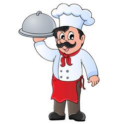 chef theme image 4 vector image