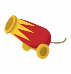 Circus cannon cartoon vector