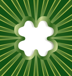 clover background green vector image