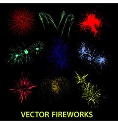 Color fireworks eps10 vector