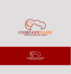 company cloud vector image