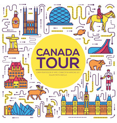 Country canada travel vacation infographic of vector