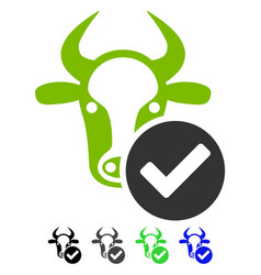 Cow valid flat icon vector
