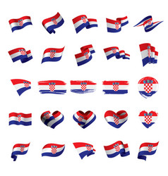 croatia flag vector image