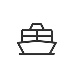 cruise liner or ferry front view outline vector image