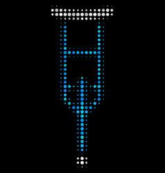 crutch halftone icon vector image