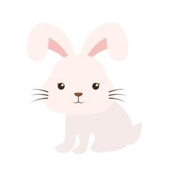cute rabbit kawaii style vector image