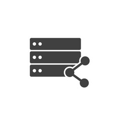 database server share icon element of vector image