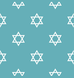 david star pattern seamless blue vector image