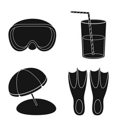 Design of equipment and swimming sign vector