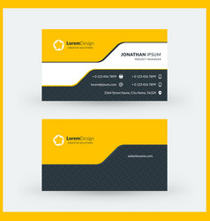 double-sided horizontal modern business card vector image