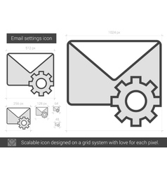 Email settings line icon vector image
