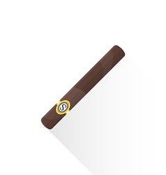 flat cuban cigar icon vector image