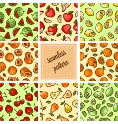 food patterns collection vector image