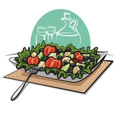 Fresh greek vegetable salad vector