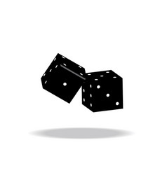 game dices isolated on white vector image