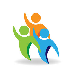 group of friends people teamwork icon vector image