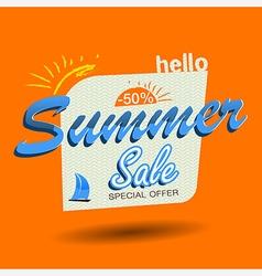 Hello summer sale vector