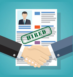 hiring process concept vector image