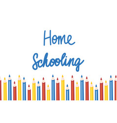 Home schooling template in vector