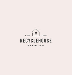 house home recycle logo icon vector image