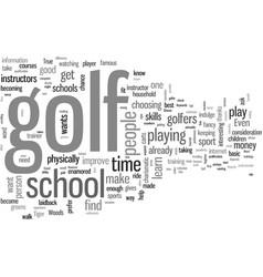 How to choose the best golf school vector