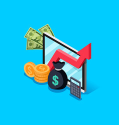 Investment increase of income concept vector