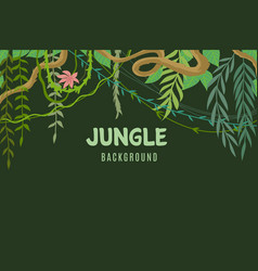 jungle tropical background wildlife adventure in vector image