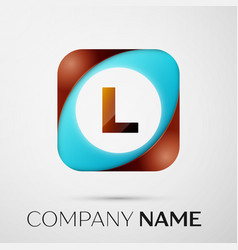 letter l logo symbol in the colorful square on vector image
