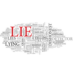 lie word cloud concept vector image