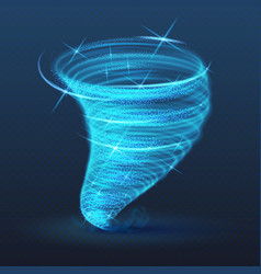 light illuminated whirlwind glowing tornado vector image