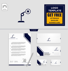 light interior logo template and stationery vector image