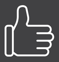 Like line icon social media and website vector