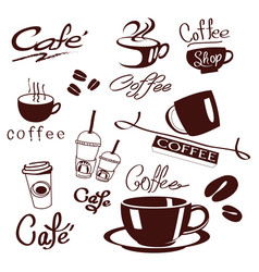 logo design for coffee cafe shops on vector image