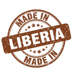 made in liberia vector image