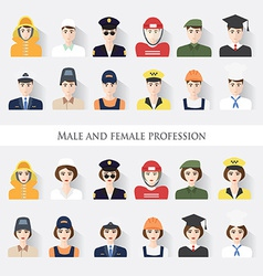 Male and female profession vector image