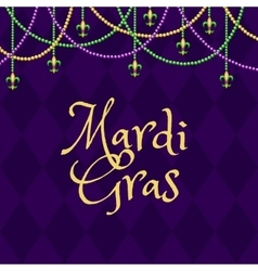 Mardi gras purple background vector image